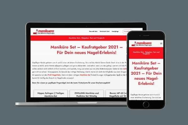 manikuera.de - Mockup Notebook und Iphone